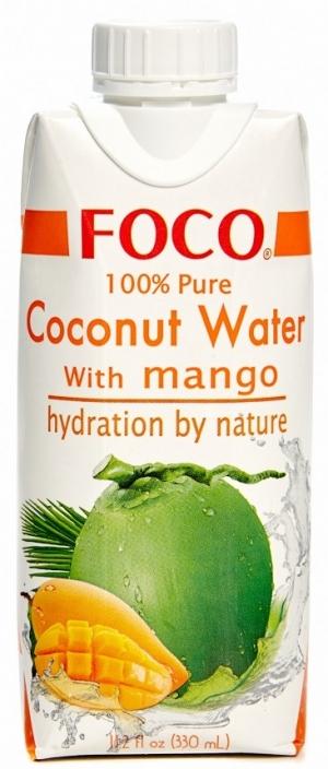 Кокосовая вода FOCO с манго, 330мл