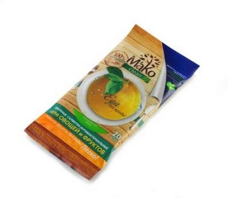 Салфетки для очистки фруктов и овощей MaKo Clean