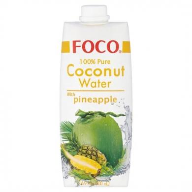 Кокосовая вода FOCO с ананасом, 500мл