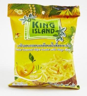 Кокосовые чипсы с манго King Island, 40 гр
