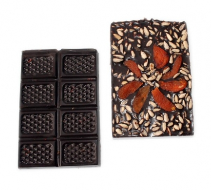 Шоколад из кэроба Курага&Семечки, 55гр