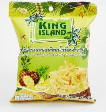 Кокосовые чипсы с ананасом King Island, 40 гр