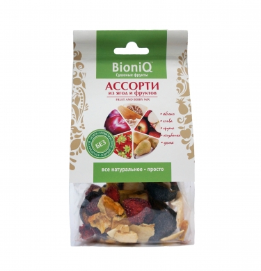 Ассорти из фруктов и ягод BioniQ, 50 гр