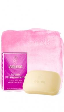 Розовое растительное мыло Weleda, 100гр