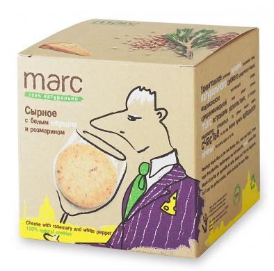 Печенье Marc&Фиса Сырное с белым перцем и розмарином, 150гр