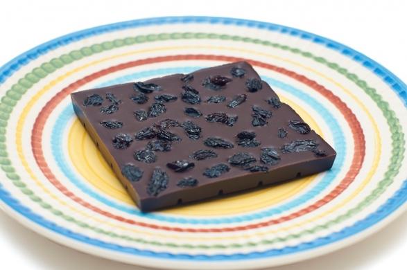 Шоколад Горький с черным виноградом, 90гр