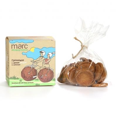Печенье Marc&Фиса Гречневое с диким медом и лимоном, 150гр