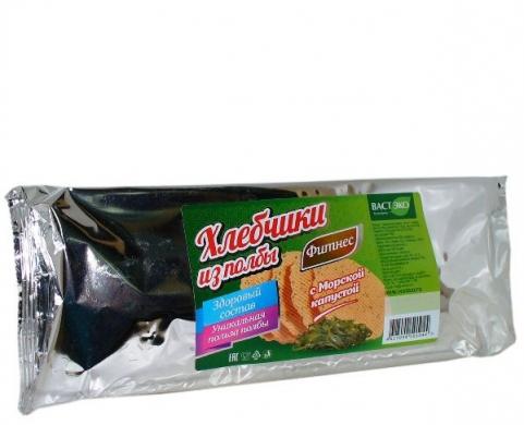 Хлебчики из полбы с морской капустой Вастэко, 70 гр