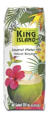 Вода кокосовая KING ISLAND, 250 мл