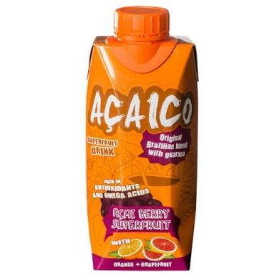 Натуральный напиток с ягодой асаи Апельсин+Грейпфрут ACAICO, 330 мл