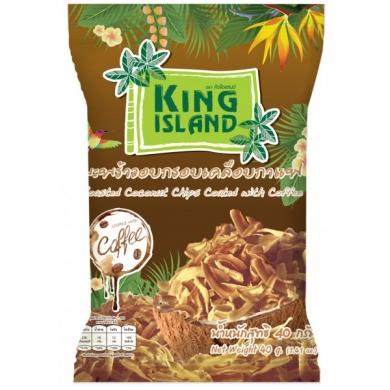Кокосовые чипсы в кофейной глазури King Island, 40 гр