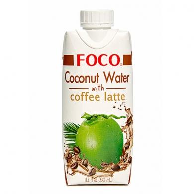 Кокосовая вода FOCO с кофе латте, 330мл