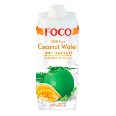 Кокосовая вода FOCO с манго, 500мл