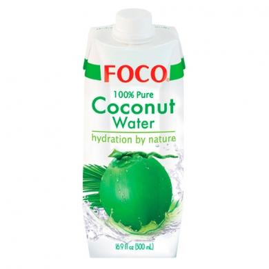 Кокосовая вода FOCO без сахара, 500 мл