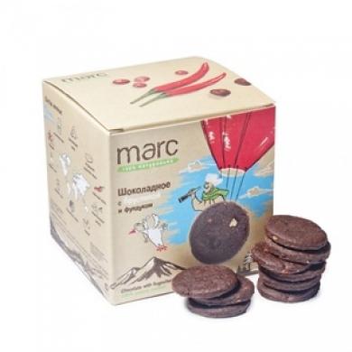 Печенье Marc&Фиса Шоколадное с брусникой и фундуком, 50гр