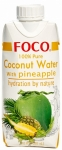 Кокосовая вода FOCO с ананасом, 330мл