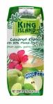 Вода кокосовая с фруктовым соком яблока, лайма, гуавы KING ISLAND, 250 мл