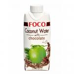 Кокосовая вода FOCO с шоколадом, 330мл